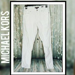 3/$18 Michael Kors slim fit white denim jeans